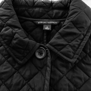 Classic Black Quilted Jacket Banana Republic
